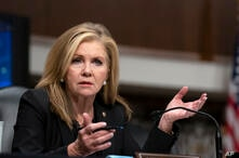 Sen. Marsha Blackburn, R-Tenn., speaks during a Senate Judiciary Committee hearing on Capitol Hill in Washington, Wednesday,…