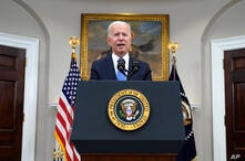 President Joe Biden delivers remarks about the Colonial Pipeline hack, in the Roosevelt Room of the White House, Thursday, May…