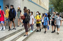 Photo by: STRF/STAR MAX/IPx 2021 8/25/21 US Covid cases surge among children to one of its highest rates of the pandemic. STAR…