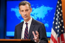 State Department spokesperson Ned Price speaks during a media briefing at the State Department in Washington, Monday, Aug. 16,…