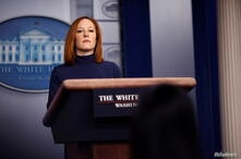 White House Press Secretary Jen Psaki delivers remarks during a press briefing at the White House in Washington, U.S.