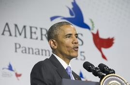 President Barack Obama, speaking at the Summit of the Americas in Panama City, said that instead of working to make the nuclear deal with Iran better, Republican critics seemed out to sink it, April 11, 2015.