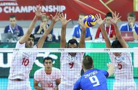 Iran volleyball national team won Italy in volleyball world cup 2