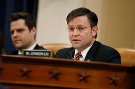 Rep. Mike Johnson, R-La.,during a House Judiciary Committee markup of the articles of impeachment against President Donald…