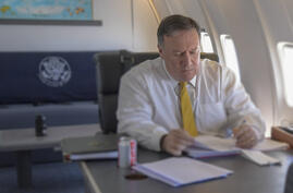 Mike Pompeo in plane - Travel