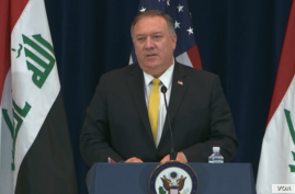 Pompeo Iraq news conference in DC