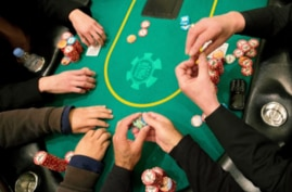 House rules in B.C. casinos stipulate that only English can be spoken while a hand is in play. PHOTO BY JULIE JACOBSON /AP