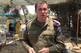 Jonathan Conricus IDF Spokesperson - screen shot grab from official IDF Account on twitter