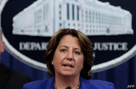 WASHINGTON, DC - JUNE 07: Deputy U.S. Attorney General Lisa Monaco speaks about the May 2021 Darkside ransomware attack on…