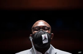 Philonise Floyd, a brother of George Floyd, appears during a House Judiciary Committee hearing on proposed changes to police…