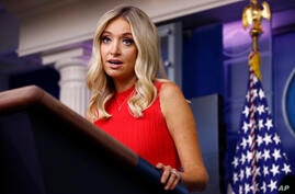White House press secretary Kayleigh McEnany speaks during a press briefing Wednesday, June 10, 2020, at the White House in…