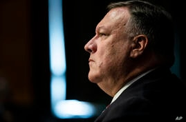 Secretary of State Mike Pompeo testifies before a Senate Foreign Relations committee hearing on the State Department's 2021…