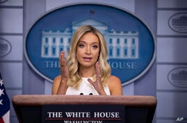 White House press secretary Kayleigh McEnany speaks during a press briefing in the James Brady Press Briefing Room at the White…