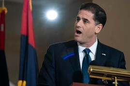 """Ron Dermer, the Israeli Ambassador to the U.S., speaks as the United States Holocaust Memorial Museum holds its annual """"Days of…"""