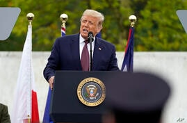 President Donald Trump speaks at a 19th anniversary observance of the Sept. 11 terror attacks, at the Flight 93 National…