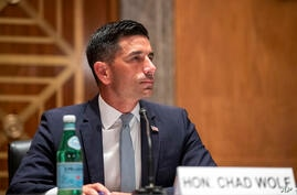 Acting Secretary of Homeland Security Chad Wolf testifies before the Senate Homeland Security and Governmental Affairs…