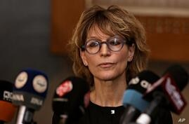 Agnes Callamard, U.N. Special Rapporteur on Extra-Judicial Summary or Arbitrary Executions, speaks to reporters in Baghdad,…