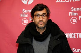 "Director Ramin Bahrani poses at the premiere of ""99 Homes"" during the 2015 Sundance Film Festival on Sunday, Jan. 25, 2015, in…"
