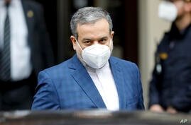 Political deputy at the Ministry of Foreign Affairs of Iran, Abbas Araghchi, leaves the 'Grand Hotel Wien' where closed-door…