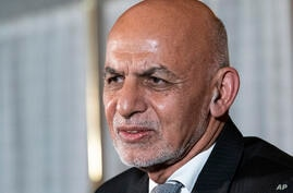 Afghan President Ashraf Ghani speaks during a media availability after his meeting with President Joe Biden in Washington,…