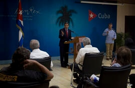 Cuba´s Foreign Minister Bruno Rodriguez speaks during a press conference in Havana, Cuba, Tuesday, July 13, 2021. Rodriguez…