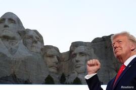 U.S. President Trump attends South Dakota's U.S. Independence Day Mount Rushmore fireworks celebrations at Mt. Rushmore in South Dakota