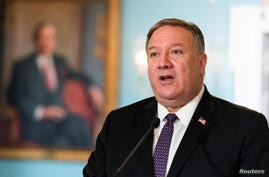 U.S. Secretary of State Mike Pompeo meets with Saudi Minister of Foreign Affairs Prince Faisal bin Farhan Al Saud at State Department in Washington