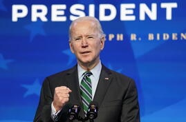 U.S. president-elect Joe Biden announces his science team in Wilmington, Delaware