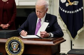 U.S. President Biden holds coronavirus response event at the White House in Washington
