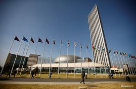 FILE PHOTO: A general view shows the headquarters of the African Union building in Ethiopia's capital Addis Ababa