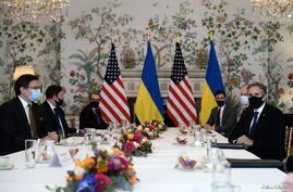 U.S. Secretary of State Antony Blinken meets with Ukrainian Foreign Minister Dmytro Kuleba in Brussels