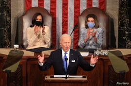 U.S. President Joe Biden's first address to a joint session of the U.S. Congress in Washington