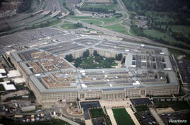 FILE PHOTO: Aerial view of the United States military headquarters, the Pentagon