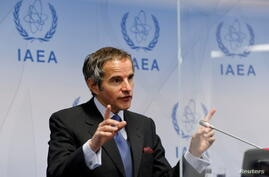 FILE PHOTO: International Atomic Energy Agency Director General Grossi attends a news conference in Vienna