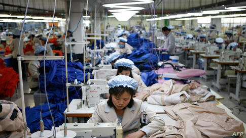 North Korean employees work at a factory of a South Korean-owned company at the Joint Industrial Park in Kaesong.