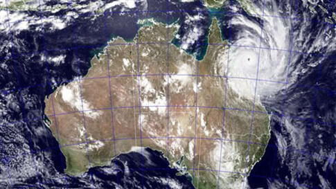 This image provided by NASA shows Tropical Cyclone Yasi as it approaches Queensland, Australia, February 2, 2011.