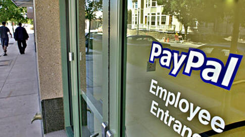The exterior of new PayPal Inc. headquarters in downtown Mountain View, California (file photo)