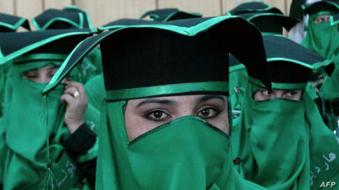 Newly-graduated Afghan midwives attend a commencement ceremony at the Governor's House in Jalalabad, Nangarhar province.