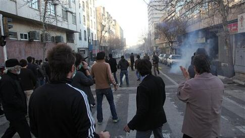 This photo, taken by an individual not employed by the Associated Press and obtained by the AP outside Iran shows Iranian protestors attending an anti-government protest in Tehran, Iran, Monday, Feb. 14, 2011. Eyewitnesses report that sporadic clashes hav
