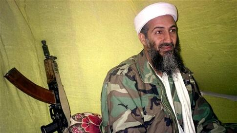 FILE - In this Dec. 24, 1998 file hoto, al Qaida leader Osama bin Laden speaks to a selected group of reporters in mountains of Helmand province in southern Afghanistan A person familiar with developments said Sunday, May 1, 2011 that bin Laden is dead an