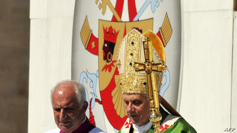 Pope Benedict XVI arrives to celebrate an open-air mass at Palermo, in the island of Sicily, Sunday, Oct. 3, 2010. Pope Benedict XVI paid tribute Sunday to a Palermo priest slain by the Mafia and encouraged Sicilians not to resign themselves to deep-roote