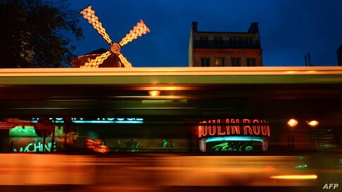 A picture taken of the Moulin Rouge Cabaret at the Pigalle district area in Paris, France.