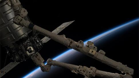 Expedition 37 crew members aboard the International Space Station release Orbital Sciences' Cygnus spacecraft from the station's robotic arm.