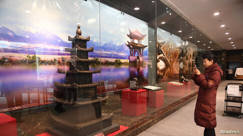 REUTERS Chocolate Art Exhibition in China