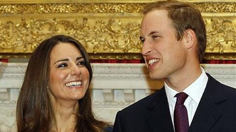 Britain's Prince William and his fiancee Kate Middleton pose for the media at St. James's Palace in London, after they announce their engagement., November 16, 2010