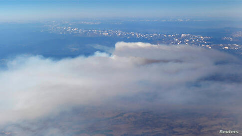 An aerial view shows the High Park wildfire near Fort Collins, Colorado.