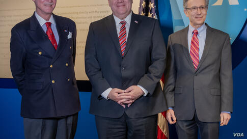 Mike Pompeo in VOA -  Robert  Reilly - Michael Pack