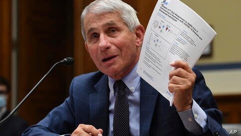 Dr. Anthony Fauci, director of the National Institute for Allergy and Infectious Diseases, testifies during a House…
