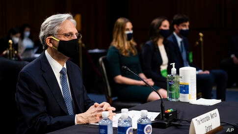 Judge Merrick Garland, nominee to be Attorney General, testifies at his confirmation hearing before the Senate Judicary…