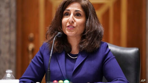 Neera Tanden testifies before the Senate Homeland Security and Government Affairs committee on her nomination to become the…